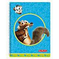Herlitz A4 Squared with 2 Margins, 70 Sheets Line Style 28 50004966 Spiral Pad Ice Age Scrat