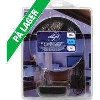VelLight - LED stripsæt (IP61) - 180 Blå LED m. strømfors. (3m) TILBUD strömfors