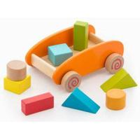 Junior Knows Trolley with Wooden Blocks