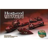 PolyHero Dice: Wizard Set - Heartwood with Moonsilver
