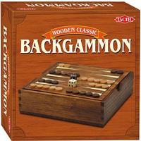 Tactic Wooden Classic Backgammon
