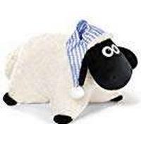 Nici 41473 with Night Cap Shaun the Sheep Soft Toy Cushion – 40 x 30 cm, Colour: White/Black