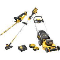 DeWalt 18v XR Cordless Lawnmower, Hedge Trimmer & Grass Trimmer Set