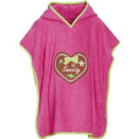 Playshoes Frotte Poncho Sweety - rød