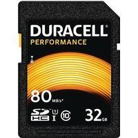 Duracell Performance SDHC Class 10 UHS-I U1 V10 80/10MB/s 32GB