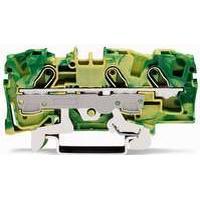 WAGO Gennemgangsklemme PE 6mm² fjederterminal gul/grøn 3-leder midter-/sidepåskrift