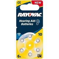 Rayovac Høreapparats-Batteri 10 (PR70) 6 Blister