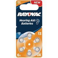 Rayovac Høreapparat-batteri 13 (PR48) 6 - Pak