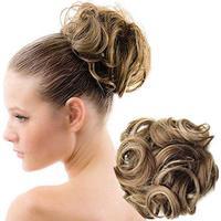 Hårknold med syntetisk hår - Dark Blond Mix