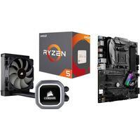AMD Uppgraderingspaket - AMD Ryzen 5 1600X + Asus B350-F Strix