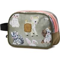 Pick & Pack Cute Animals Toiletry Bag - Taupe (pp16126-89)