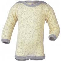 Engel - Baby-Body Langarm mit Druckverschluss Schulter Gr 86/92 weiß/beige/grau