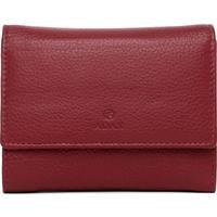 ADAX Regitze liten plånbok i skinn, Röd