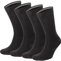 Topeco 4-pack Mens Socks Plain Bamboo - Black - Strl 41/45
