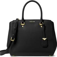 Michael kors benning large leather satchel black