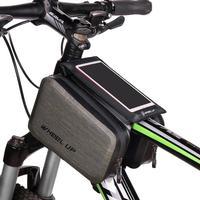 WHEEL UP Vandtæt Mobilholder Til Cykel m. Taskerum Sort - L