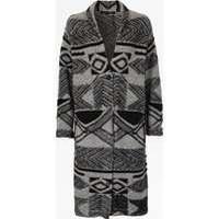 3D Knitted Wool Coatigan - grey