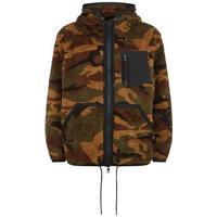 Moncler Camouflage Fleece Zipped Hoodie