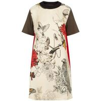 Knit Trim T-Shirt Dress