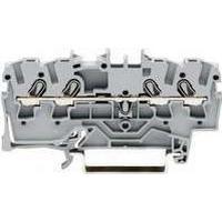 WAGO Gennemgangsklemme 2,5mm² fjederterminal grå 4-leder midter-/sidepåskrift egnet til Ex e II-anvendelser 550 V, 22 A
