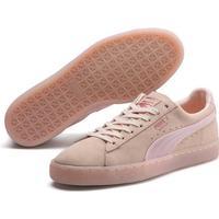 Puma - Suede Classic Satin Sneakers (Pearl-rose Gold) 36