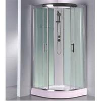 PM EVA 80 Vit låg duschkabin, Mått: 800x800x1900 mm