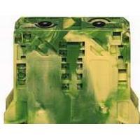 WAGO Gennemgangsklemme PE, fjederklemme 50 mm² Gul-Grøn, med integreret slutplade, for DIN-35 x 15