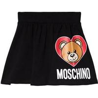Moschino Kid-Teen Black Bear Print Jersey Skirt 12 years