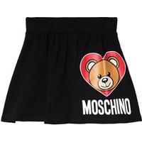 Moschino Kid-Teen Black Bear Print Jersey Skirt 6 years