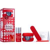 Le Mini Macaron Gel Manicure Kit Cherry Red