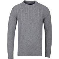 Barbour Crastill Cable Crew Grey Woolen Jumper