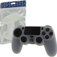 ZedLabz Controller Soft Silicone Rubber Skin Grip Cover with Ribbed Handle - Semi Clear (Playstation 4)