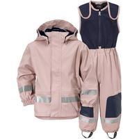 Didriksons Boardman Fodrat Regnställ - Dusty Pink/Navy