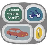 Sebra Melamine Plate w/4 Rooms Little Driver