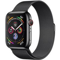 Apple Watch Series 4 Cellular 44mm Stainless Steel Case with Milanese Loop