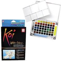 Koi Water Colours - Pocket Field Sketch Box 48 akvarellfärger