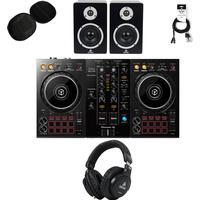 Pioneer DDJ-400 DJ-set met monitoren, koptelefoon en case