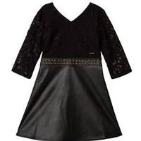 Guess Marciano Lace and Pleather Klänning Svart 14 years