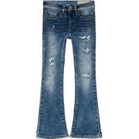 Diesel Mid Wash Lowleeh Distressed Flared Jeans 16 years
