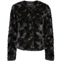 Vero Moda Short Fake Fur Jacket Black/Black