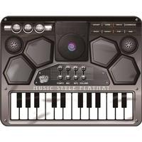 Musikmatta Med Mikrofon, Piano & Dj-Mixer
