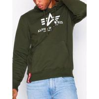 Alpha Industries Basic Hoody Tröjor Dark Green