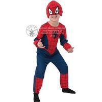 Maskeraddräkt Spiderman Classic, Strl 98, Rubies