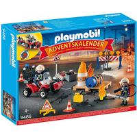Playmobil Fire Brigade on the Construction Site Advent Calendar 2018 9486