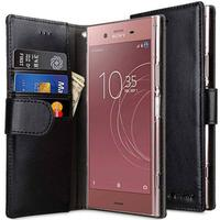 Melkco PU Leather Wallet Book Clear Type Case (Xperia XZ1 Compact)