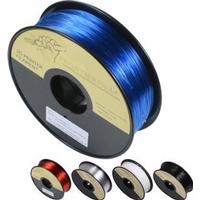 PETG 1kg svart/vit/genomskinlig 1.75mm FrontierFila filament för 3D-printer - Läpinäkyvä Sininen