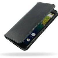 PDair Huawei Nexus 6P PDair Deluxe Book Type Læder Taske - Sort