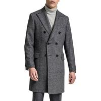 Oscar Jacobson Saul Double Breasted Coat - Dark Grey