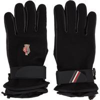 Black Logo Ski Gloves