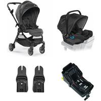 Baby Jogger City Tour Lux Sittvagn + City Go I-Size Babyskydd, Basenhet & Adapter